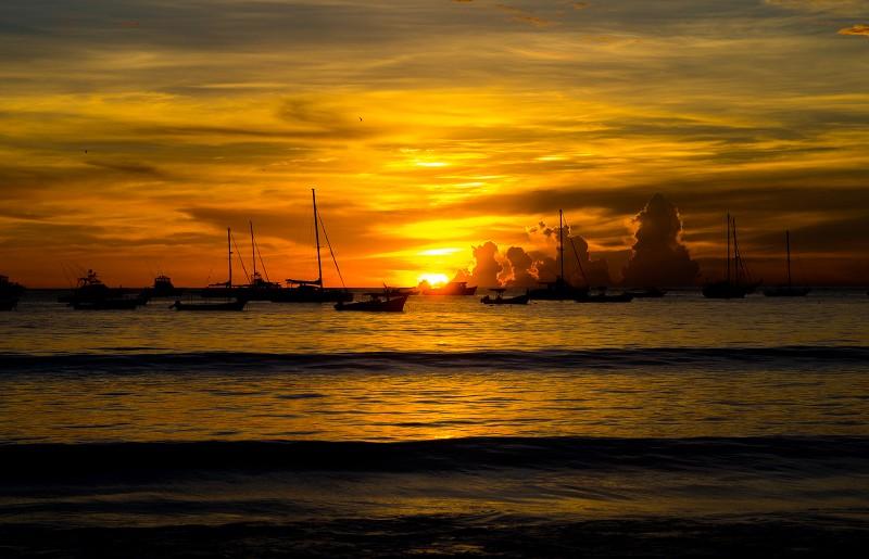 Sonnenuntergang in SJDS