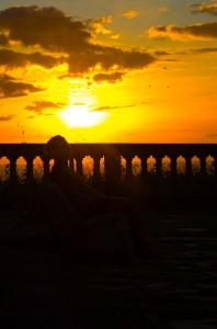 Philippa im Sonnenuntergang
