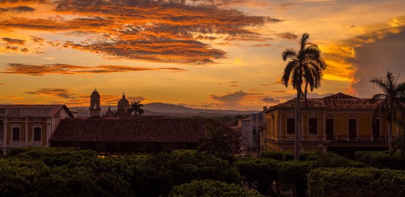 Sonnenuntergang in Granada
