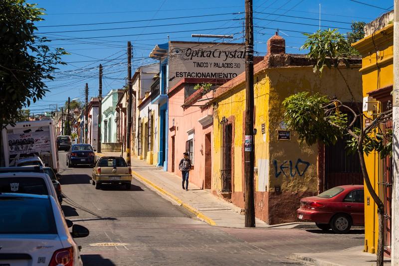 Durch die Strassen Oaxacas